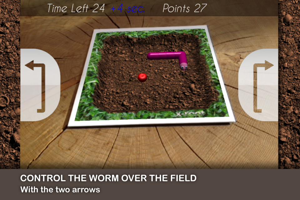 Screenshot Worm AR – Augmented Reality Game