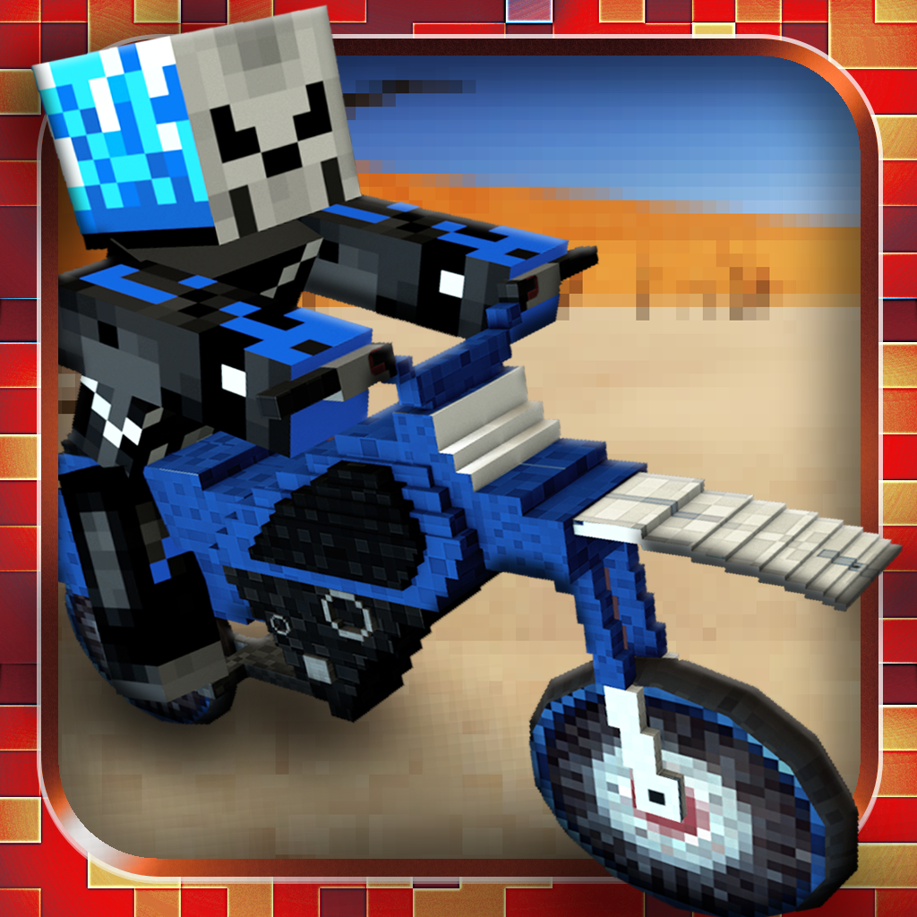 Block Dirt Bike Survival: 3D Mine Mini Multiplayer Racing Game